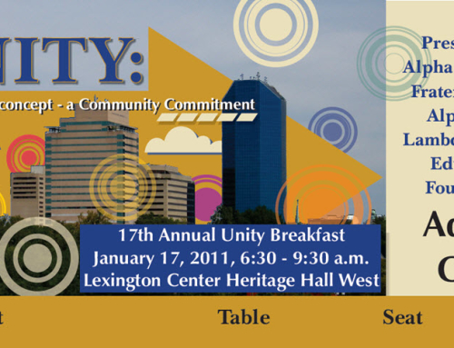 2011 Unity Breakfast Tickets & Artwork